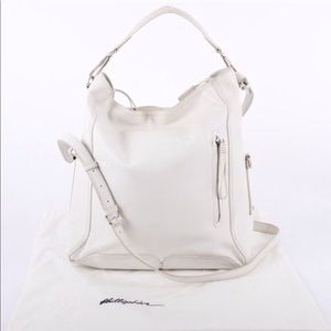 Phillip Lim white large tote satchel bag leather